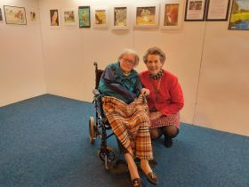 Mayoress views Janet's exhibition